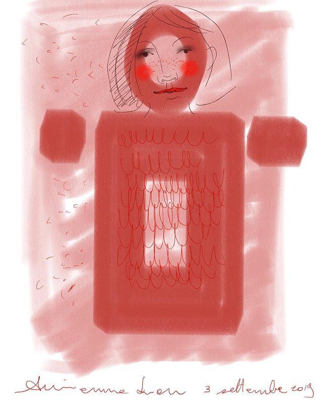 Donna mattone disegno digitale di Ariann
