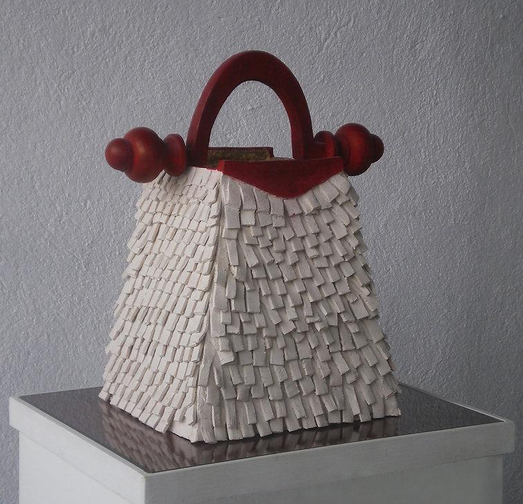 Borsa Ziggurat 2009 ceramica bianca legn