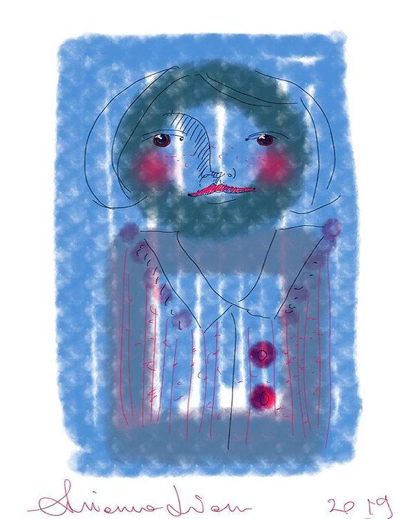 Donna timida disegno digitale di Arianna