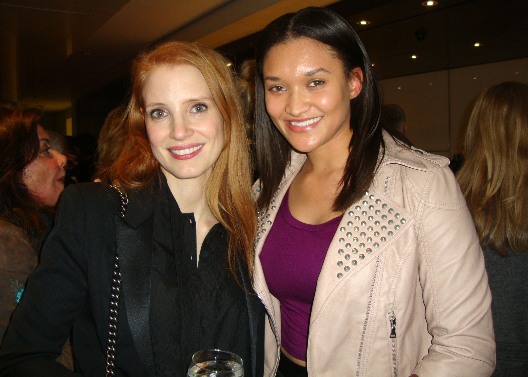 Etalvia Cashin and Jessica Chastain