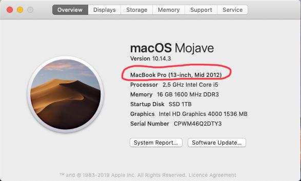 Step 2 Find My Mac Model