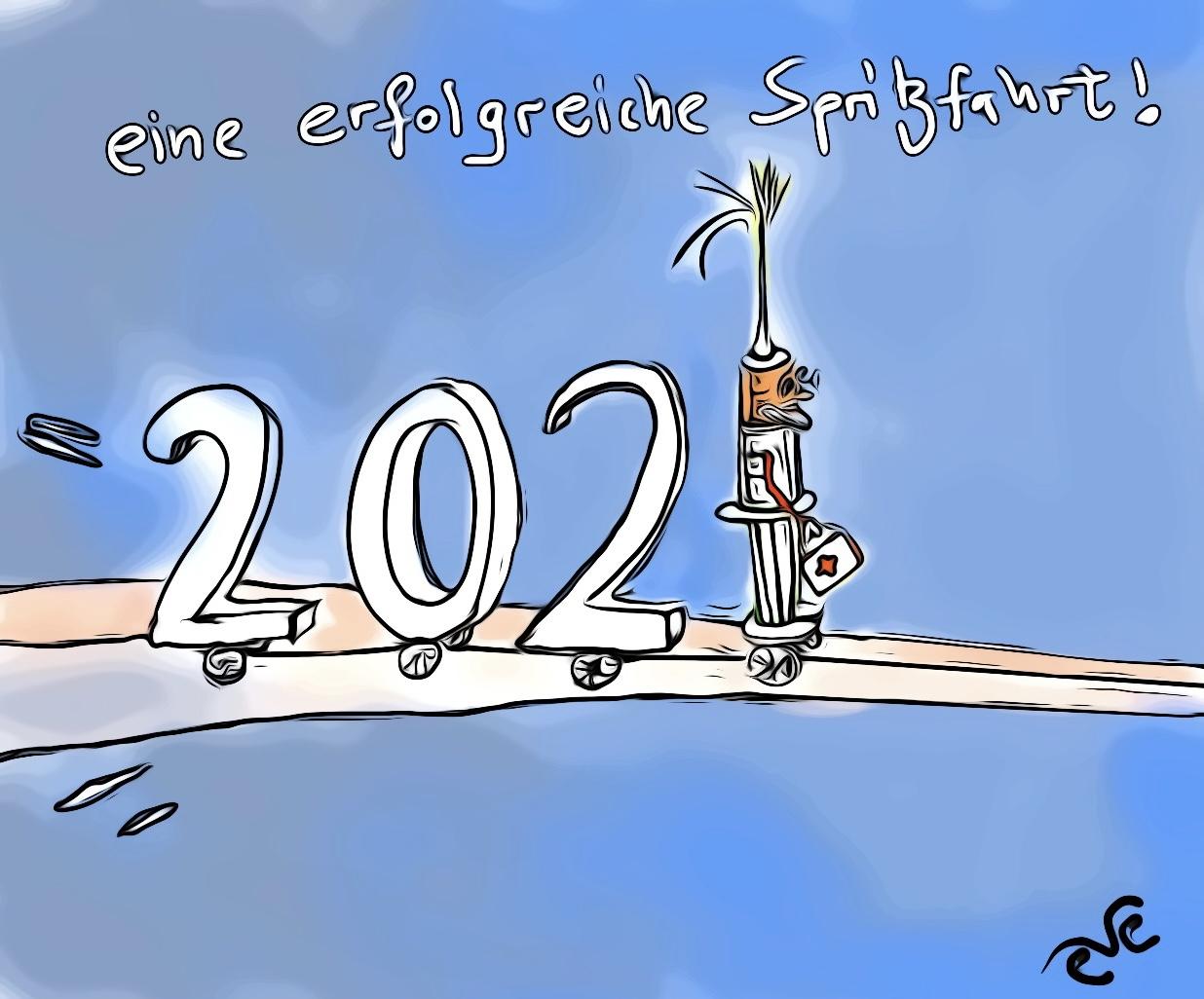 spritzfahrt ins 2021