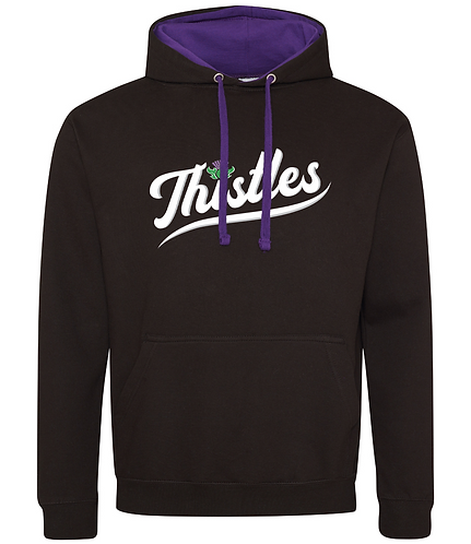 Embroidered Thistle Contrast Hoodie