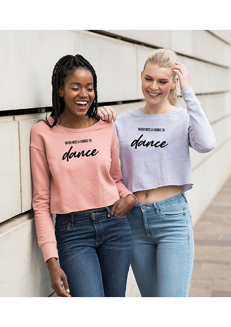 Adults 'Never miss...' Cropped Sweatshirt