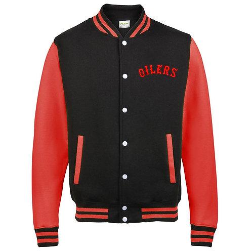 Mens Oilers Baseball Jacket