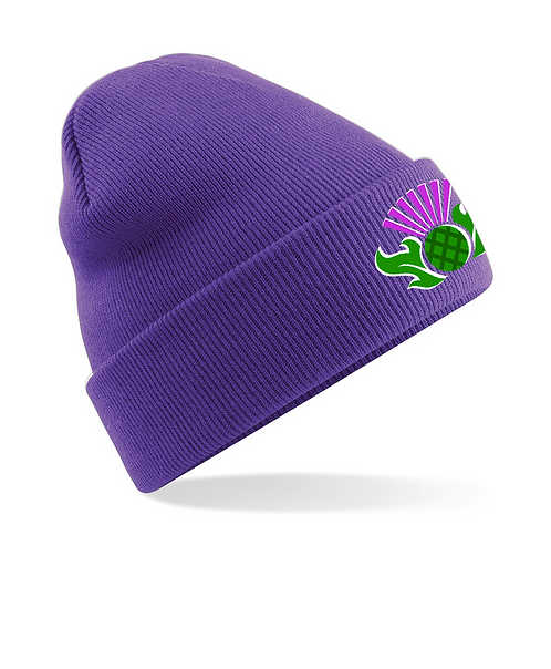 Embroidered Thistle Beanie