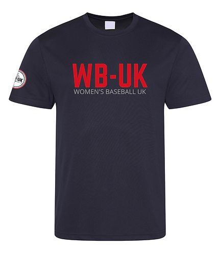 Women's Baseball UK Training Performance T-Shirts
