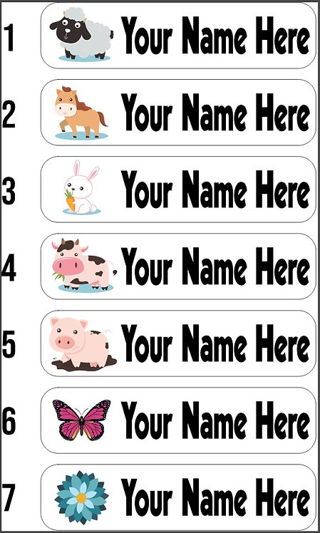 Iron On Name Labels (x30)