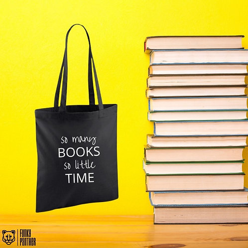 so many books so little time - tote bag