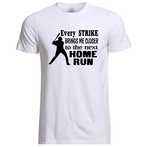 Mens - Home Run Cotton Baseball T-Shirt