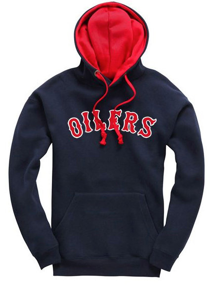 Embroidered Oilers Contrast Hoodie