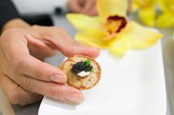Blinis de caviar