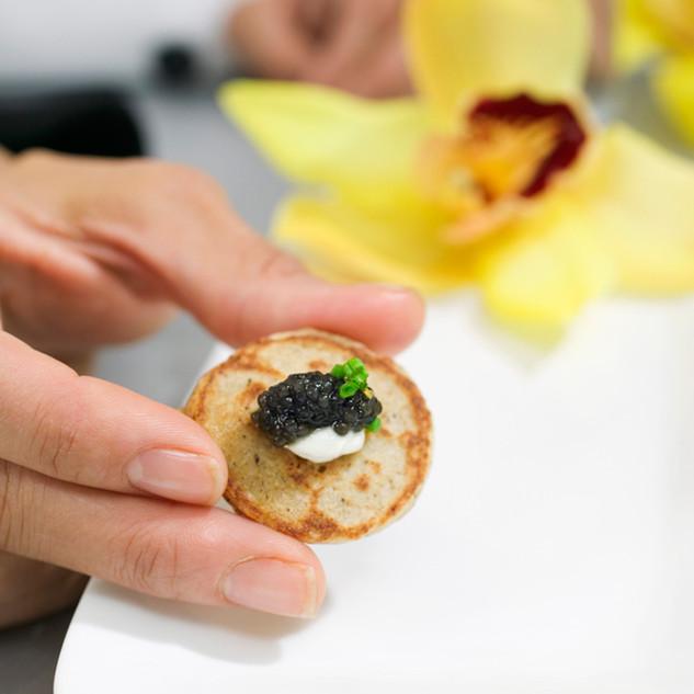 Caviar Blini