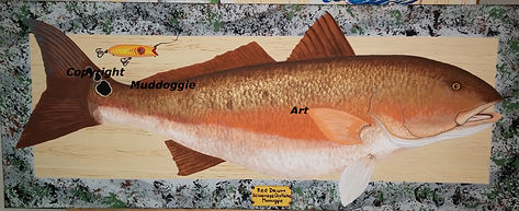 Redfish Painting