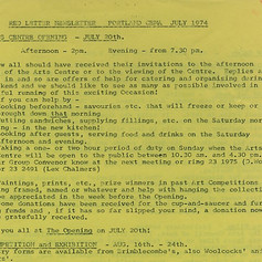 Newsletter 1974 - Opening of the CEMA Arts Centre