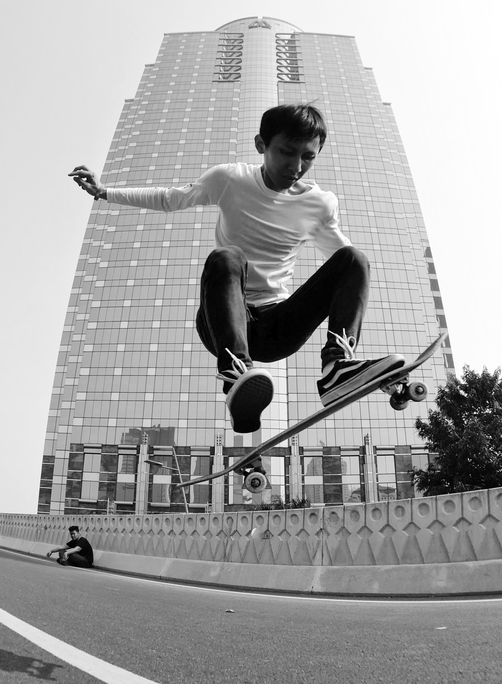 Antonyus Bunjamin_Skateboard Jump at Sem