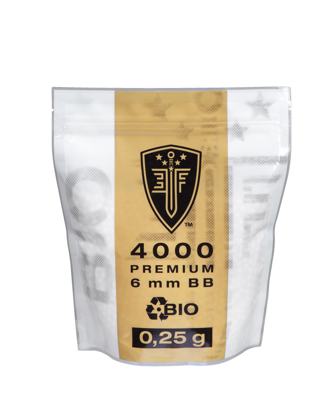 Elite Force Airsoft Softair BBs Bio 4.000 Stk. Zipper Bag 0.25 g 6 mm