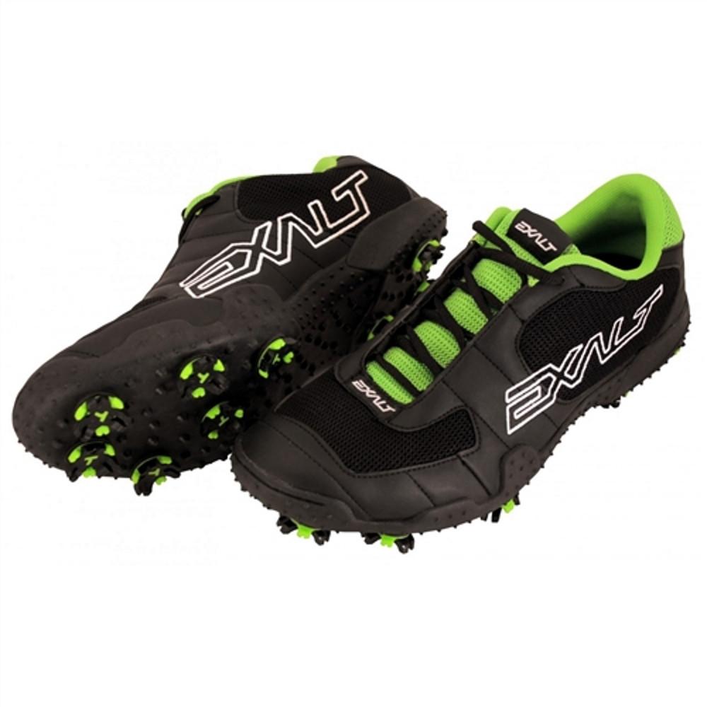 Exalt TRX Cleats, Black/Lime