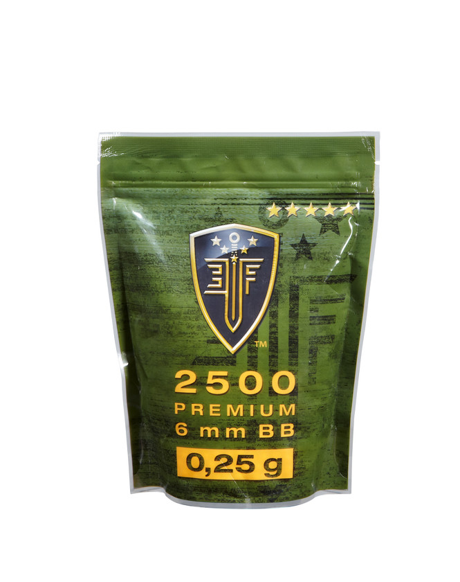 Elite Force Airsoft Softair BBs 2.500 Stk. Zipper Bag 0.20 g 6 mm