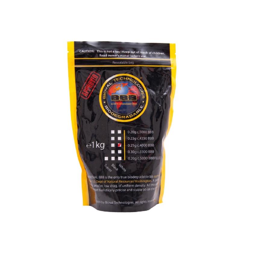 Softairmunition Bioval Bio BB's 0,25 g, 4.000 Stk