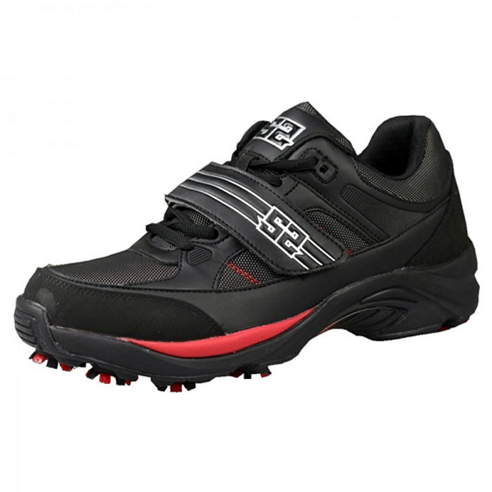 S2 The Flash Cleats Paintball-Schuhe, Schwarz/Rot Seite
