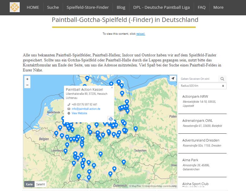 KNAMAO Paintball-Spielfeld-Finder