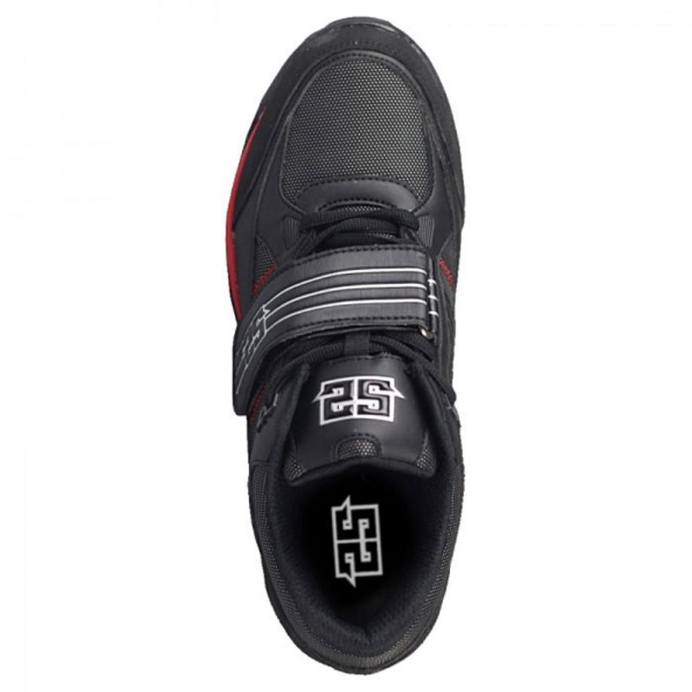 S2 The Flash Cleats Paintball-Schuhe, Schwarz/Rot oben