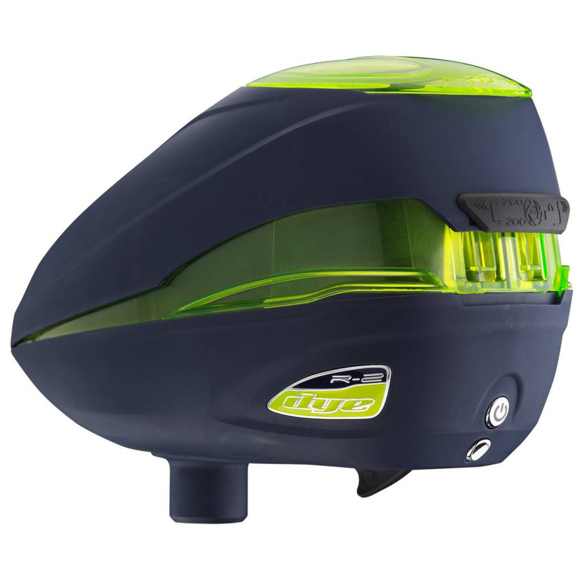 Dye Paintball Loader Rotor R2, Navy/Lime