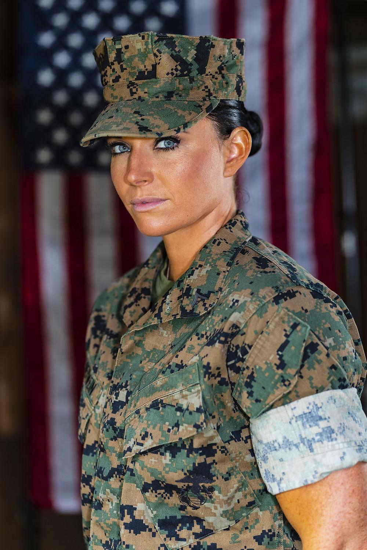 US-Marine mit MARPAT Feldanzug
