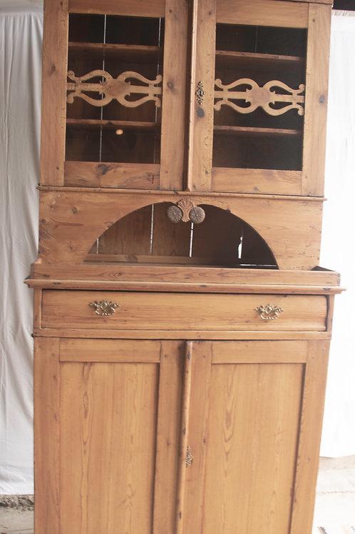 Buffet w glass cabinet / Skänk med ovanskåp glas