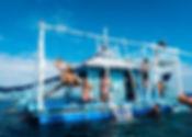 セブ島・アイランドホッピング&水上アスレチック