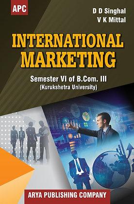 International Marketing B.Com. III Semester VI (KU)