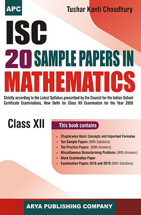 ISC 20 Sample Papers in Mathematics Class-XII
