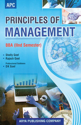 Principles of Management Semester II of BBA (MDU)