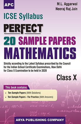 ICSE Perfect 20 Sample Papers Mathematics Class-X