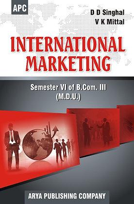 International Marketing B.Com. III Semester VI (MDU)
