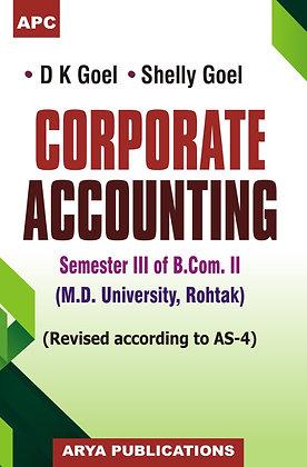 Corporate Accounting B.Com. II Semester III & IV (M.D.U., Rohtak)