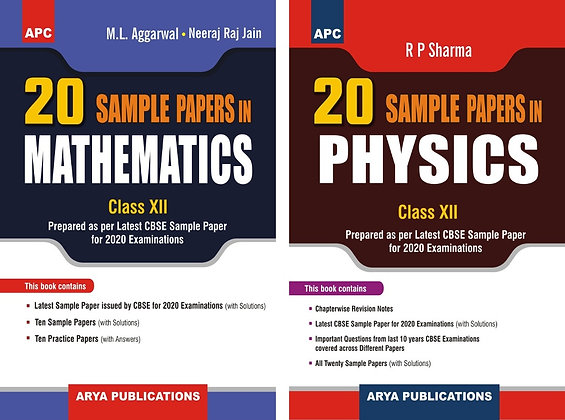 APC 20 Sample Papers Mathematics And Physics (CBSE) Class 12 (March 2020 Exam)