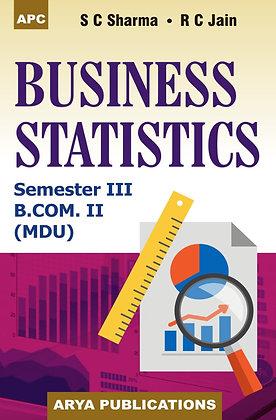 Business Statistics B.Com. II Semester III (MDU)