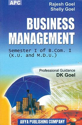 Business Management B.Com. I Semester I (K.U. and M.D.U)