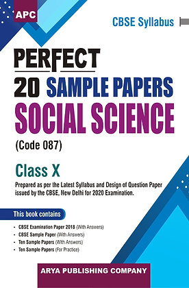 Perfect 20 Sample Papers Social Science Class X