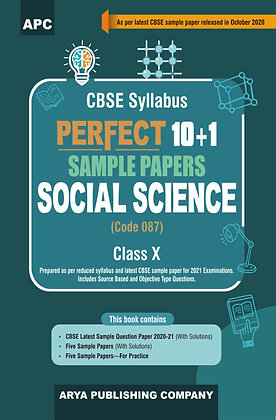 Perfect 10+1 Sample Papers Social Science (Code- 087) Class- X