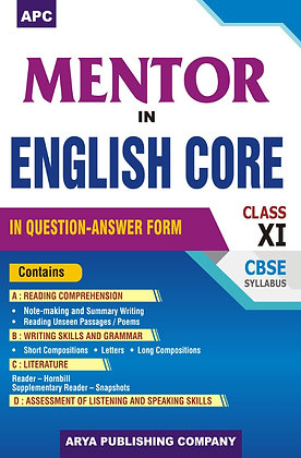 APC Mentor in English Core (In Question Answer Form) Class-XI