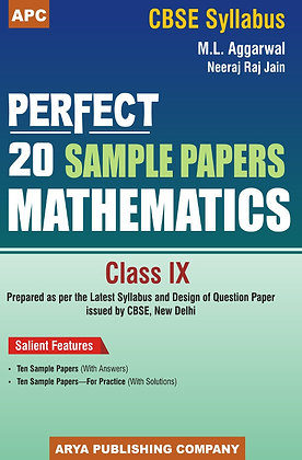 Perfect 20 Sample Papers Mathematics Class- IX