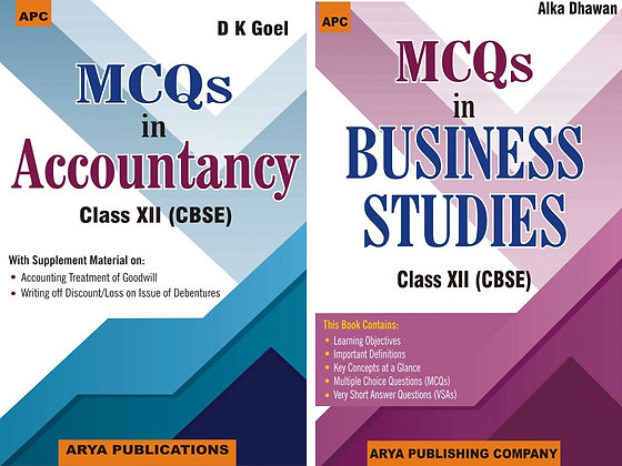 APC MCQ's Accountacy And Bussiness Studies (Cbse) Class 12 (March 2020 Exam) (S
