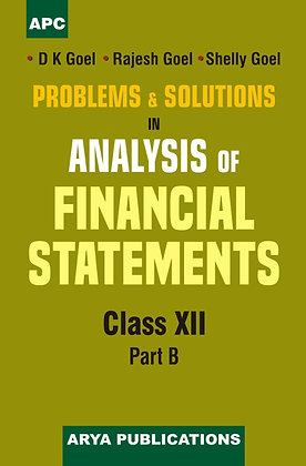 Problems & Solutions in Analysis of Financial Statement Class- XII (Part-B)