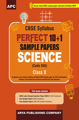 Perfect 10+1 Sample Papers Science (Code -086) Class-X
