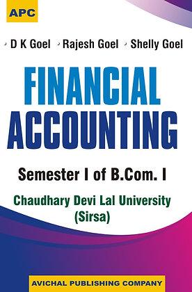 Financial Accounting Semester I of B.Com.I (CDLU) (Sirsa)