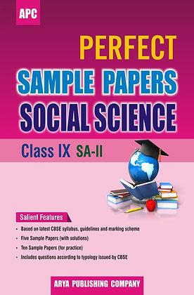 Perfect Sample Papers Social Science Class IX SA-II