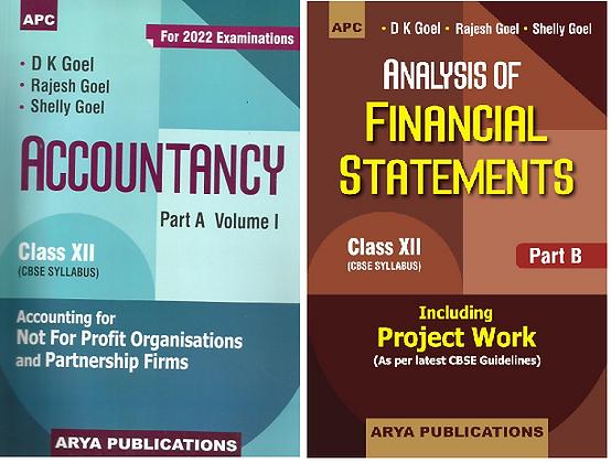 Accountancy Part A Vol1 & Analysis of Financial Statements Part B Class 12